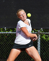 08-08-13, Netherlands, Rotterdam,  TV Victoria, Tennis, NJK 2013, National Junior Tennis Championships 2013, Lexie Stevens<br /> <br /> <br /> Photo: Henk Koster