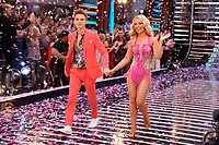 """Joe Sugg and Katie Piper<br /> at the launch of """"Strictly Come Dancing"""" 2018, BBC Broadcasting House, London<br /> <br /> ©Ash Knotek  D3426  27/08/2018"""