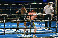 Sam Noakes (black shorts) defeats Lee Connelly during a Boxing Show at the Royal Albert Hall on 10th July 2021