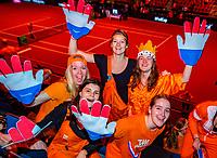 Den Bosch, The Netherlands, Februari 10, 2019,  Maaspoort , FedCup  Netherlands - Canada, first match Sunday : Dutch supporters<br /> Photo: Tennisimages/Henk Koster
