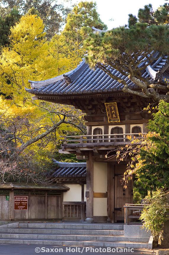 Japanese Tea Garden, Golden Gate Park, San Francisco. Main entrance gate.