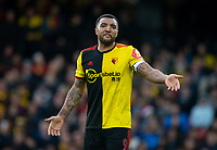 Troy Deeney of Watford during the Premier League match between Watford and Manchester United at Vicarage Road, Watford, England on 22 December 2019. Photo by Andy Rowland.