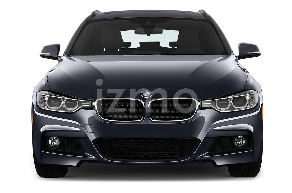 Car photography straight front view of a 2018 BMW 3-Series 328d-Sports-Wagon 5 Door Wagon Front View