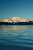 Ben Lomond and Loch Lomond in winter from Luss, Loch Lomond & The Trossachs National Park<br /> <br /> www.scottishhorizons.co.uk/Keith Fergus 2011 All Rights Reserved