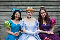 Beautiful Cinderella & Anastasia Cosplay, Emerald City Comicon, Seattle, WA, USA.