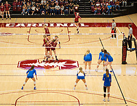 STANFORD, CA - NOVEMBER 17: Stanford, CA - November 17, 2019: Kate Formico, Madeleine Gates, Meghan McClure, Jenna Gray, Morgan Hentz, Kathryn Plummer at Maples Pavilion. #4 Stanford Cardinal defeated UCLA in straight sets in a match honoring neurodiversity. during a game between UCLA and Stanford Volleyball W at Maples Pavilion on November 17, 2019 in Stanford, California.