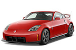 Front three quarter view of a 2008 Nissan 350z Coupe Nismo.