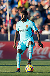 Samuel Umtiti of FC Barcelona in action during the La Liga 2017-18 match between CD Leganes vs FC Barcelona at Estadio Municipal Butarque on November 18 2017 in Leganes, Spain. Photo by Diego Gonzalez / Power Sport Images
