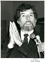 Rodrigue Biron en novembre 1981 (date exacte inconnue)<br /> <br /> PHOTO :  Agence Quebec Presse
