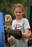 Pictured: Charlotte Hunt, 12 with an owl Saturday 13 August 2016<br />