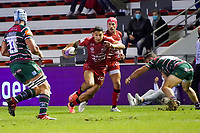 26th September 2020; Toulon, France; European Challenge Cup Rugby, semi-final; RC Toulon versus Leicester Tigers;  Bryce Heem (RC Toulon) breaks into open field as Lavanini of Leicester closes