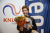 Hilversum, Netherlands, December 3, 2017, Winter Youth Circuit Masters, Winner boys 14 years Luka Novakovic<br /> Photo: Tennisimages/Henk Koster