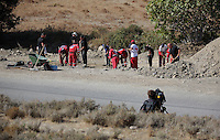Pictured: Forensic archaeologists assisted by Hellenic Rescue volunteers work at the second site in Kos, Greece. Sunday 16 October 2016<br /> <br /> Re: Police teams led by South Yorkshire Police are searching for missing toddler Ben Needham on the Greek island of Kos.<br /> Ben, from Sheffield, was 21 months old when he disappeared on 24 July 1991 during a family holiday.<br /> Digging has begun at a new site after a fresh line of inquiry suggested he could have been crushed by a digger.