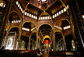 Cartago, Costa Rica. The Byzantine church of Our Lady of the Angels (Nuestra Senora de los Angeles; inside, the nave.