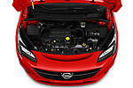 Car Stock 2018 Opel Corsa Black-Edition 5 Door Hatchback Engine  high angle detail view