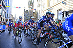 The start of the Women Elite Road Race of the UCI World Championships 2019 running 149.4km from Bradford to Harrogate, England. 28th September 2019.<br /> Picture: Eoin Clarke | Cyclefile<br /> <br /> All photos usage must carry mandatory copyright credit (© Cyclefile | Eoin Clarke)