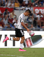Calcio, Serie A: Roma vs Juventus. Roma, stadio Olimpico, 30 agosto 2015.<br /> Juventus' Paulo Dybala reacts after scoring during the Italian Serie A football match between Roma and Juventus at Rome's Olympic stadium, 30 August 2015.<br /> UPDATE IMAGES PRESS/Isabella Bonotto