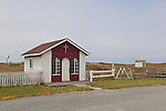 A small chaple with white picket fences stands next to Pacific Ocean beaches at Point St. George,  Crescent City California, near the Oregon and California border.