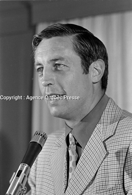 Jean Beliveau<br /> , le 15 juin 1971<br /> <br /> PHOTO D'ARCHIVE : Agence Quebec Presse