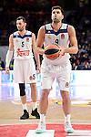 Real Madrid's player Rudy Fernandez and Felipe Reyesduring match of Turkish Airlines Euroleague at Barclaycard Center in Madrid. November 24, Spain. 2016. (ALTERPHOTOS/BorjaB.Hojas)