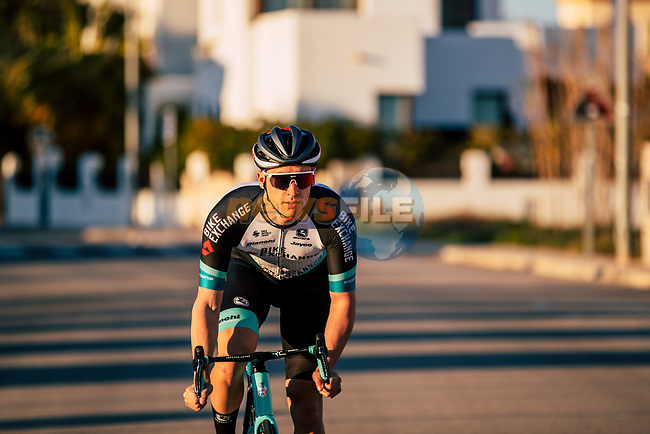 Barnabás Peák (HUN) Team BikeExchange men's squad during their recent training camp in Calpe, Spain. 18th January 2021.<br /> Picture: Sara Cavallini/GreenEDGE Cycling | Cyclefile<br /> <br /> All photos usage must carry mandatory copyright credit (© Cyclefile | Sara Cavallini/GreenEDGE Cycling)