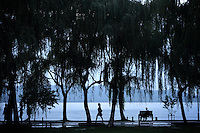 West Lake in Hangzhou, one of the most visited tourists sites in China. Zhejiang Province. China. 2010
