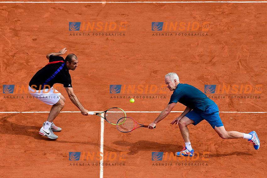 John McEnroe (usa) / Cedric Pioline (Fra) trophee des Legendes<br /> Parigi 10-06-2018 Roland Garros <br /> Tennis Grande Slam 2018 <br /> Torneo Leggende <br /> Foto Panoramic / Insidefoto <br /> ITALY ONLY