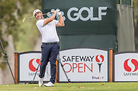 11th September 2020, Napa, California, USA;  Scott Piercy of the United States tees off during the second round of the Safeway Open PGA tournament on September 11, 2020 at Silverado Country Club in Napa, CA.