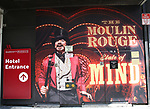 """Billboard of Danny Burstein for """"Moulin Rouge!"""" The Broadway Musical at the Al Hirschfeld Theatre on July 9, 2019 in New York City."""