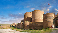 Ruins of the Armenian City walls built by  King Smbat (977–989) of Ani archaelogical site on the Ancient Silk Road ,Turkey