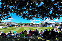 A general view from the embankment during day two of the second International Test Cricket match between the New Zealand Black Caps and West Indies at the Basin Reserve in Wellington, New Zealand on Friday, 11 December 2020. Photo: Dave Lintott / lintottphoto.co.nz
