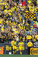 24 OCTOBER 2010:  Columbus Crew forward Emilio Renteria (20) and Columbus Crew midfielder/forward Guillermo Barros Schelotto (7) during MLS soccer game against the Philadelphia Union at Crew Stadium in Columbus, Ohio on August 28, 2010.