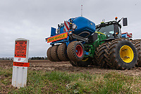 6-3-2021 Gas pipeline warning sign in a field <br /> ©Tim Scrivener Photographer 07850 303986<br />      ....Covering Agriculture In The UK....