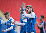 St Johnstone v Ross County…24.02.18…  McDiarmid Park    SPFL<br />Murray Davidson applauds the fans at full time<br />Picture by Graeme Hart. <br />Copyright Perthshire Picture Agency<br />Tel: 01738 623350  Mobile: 07990 594431