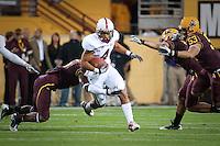 TEMPE, AZ - November 13, 2010: Drew Terrell during a football game at Arizona State University in Tempe, Arizona. Stanford won 17-13.