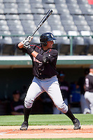 Mike Blanke #32 of the Kannapolis Intimidators at bat against the Charlotte Knights at Knights Stadium on April 3, 2011 in Fort Mill, South Carolina.    Photo by Brian Westerholt / Four Seam Images