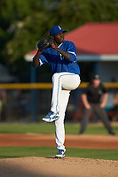 Burlington Royals starting pitcher Malcolm Van Buren (17) in action against the Kingsport Mets at Burlington Athletic Stadium on July 27, 2018 in Burlington, North Carolina. The Mets defeated the Royals 8-0.  (Brian Westerholt/Four Seam Images)
