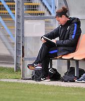 Monfalcone, Italy, April 26, 2016.<br /> Usa's head coach Taliaferro during USA v Iran football match at Gradisca Tournament of Nations (women's tournament). Monfalcone's stadium.<br /> © ph Simone Ferraro / Isiphotos