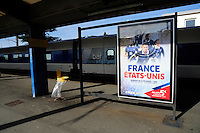 Lorient, France. - Sunday, February 8, 2015: Lorient train station. France defeated the USWNT 2-0 during an international friendly at the Stade du Moustoir.