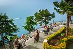Italien, Kampanien, Pogerola oberhalb Amalfi: Hotel Excelsior Fruehstuecks-Terrasse | Italy, Campania, Pogerola above Amalfi: Hotel Excelsior - terrace
