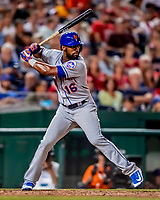 21 September 2018: New York Mets outfielder Austin Jackson in action against the Washington Nationals at Nationals Park in Washington, DC. The Mets defeated the Nationals 4-2 in the second game of their 4-game series. Mandatory Credit: Ed Wolfstein Photo *** RAW (NEF) Image File Available ***