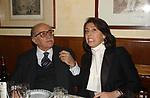 """LINO JANNUZZI CON MIRANDA DELL'UTRI<br /> 75° COMPLEANNO DI LINO JANNUZZI - """"DA FORTUNATO AL PANTHEON"""" ROMA 2003"""