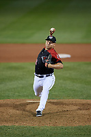 Erie SeaWolves pitcher Brandyn Sittinger (49) during an Eastern League game against the Altoona Curve on June 3, 2019 at UPMC Park in Erie, Pennsylvania.  Altoona defeated Erie 9-8.  (Mike Janes/Four Seam Images)