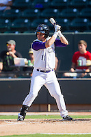 Justin Jirschele (11) of the Winston-Salem Dash at bat against the Wilmington Blue Rocks at BB&T Ballpark on July 6, 2014 in Winston-Salem, North Carolina.  The Dash defeated the Blue Rocks 7-1.   (Brian Westerholt/Four Seam Images)