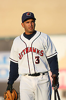 April 26 2009: Marcos Cabral of the Lancaster JetHawks before game against the San Jose Giants at Clear Channel Stadium in Lancaster,CA.  Photo by Larry Goren/Four Seam Images