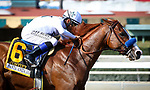 ARCADIA, CA April 7: Justify and Mike Smith dominate in the Santa Anita Derby (Grade I) on April 7 at Santa Anita Park in Arcadia, CA (Photo by Chris Crestik/ Eclipse Sportswire/ Getty Images)