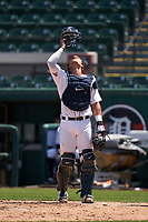 Detroit Tigers catcher Dillon Dingler (9) during a Minor League Spring Training game against the Baltimore Orioles on April 14, 2021 at Joker Marchant Stadium in Lakeland, Florida.  (Mike Janes/Four Seam Images)
