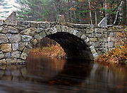 A stone double arch bridge which spans Beard Brook at the junction of Beard Road and Jones Road in Hillsborough, New Hampshire USA. Known as the Old Carr Bridge, it was built by Captain Jonathan Carr in 1840.