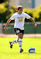 2 September 2007: University of Vermont Catamounts' Kaitlin Francis, a Junior from Hinesburg, VT, in action against the George Washington University Colonials at Historic Centennial Field in Burlington, Vermont. The Colonials rallied to defeat the Catamounts 2-1 in overtime during the TD Banknorth Soccer Classic...Mandatory Photo Credit: Ed Wolfstein Photo