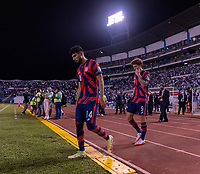 SAN PEDRO SULA, HONDURAS - SEPTEMBER 8: Ricardo Pepi #14 of the United States enters the field before a game between Honduras and USMNT at Estadio Olímpico Metropolitano on September 8, 2021 in San Pedro Sula, Honduras.